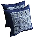 HOMEE the Southeast Asian American Porcelain Tile Pillow Cushion Kit Cushion ,45X45Cm National Style, Royal Blue 3,1 Blue,45x45cm