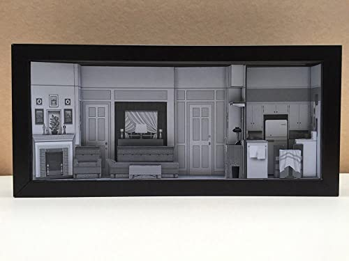 I Love Lucy Apartment set shadowbox diorama – memorabilia picture art collector gift