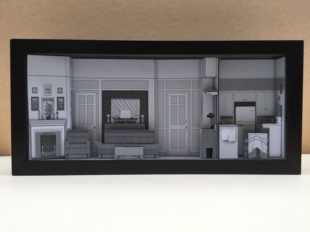 I Love Lucy Apartment set shadowbox diorama - memorabilia picture art collector gift by Slick Artwork