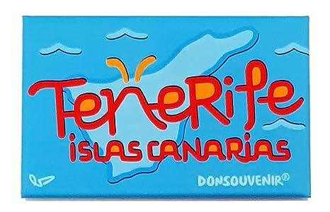 DONSOUVENIR MAGNETICO Isla DE Tenerife. Modelo: Logo Mapa ...