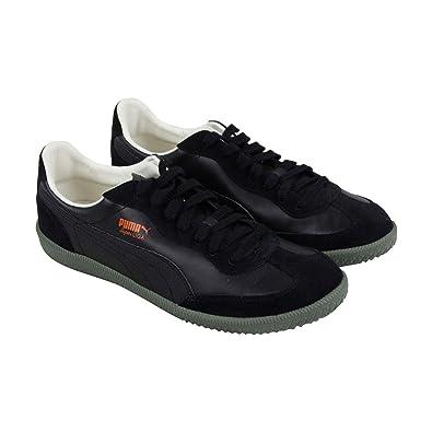 fff8b9a8af6 ... sweden puma super liga og retro mens black leather sneakers shoes 9  3dec2 993a1