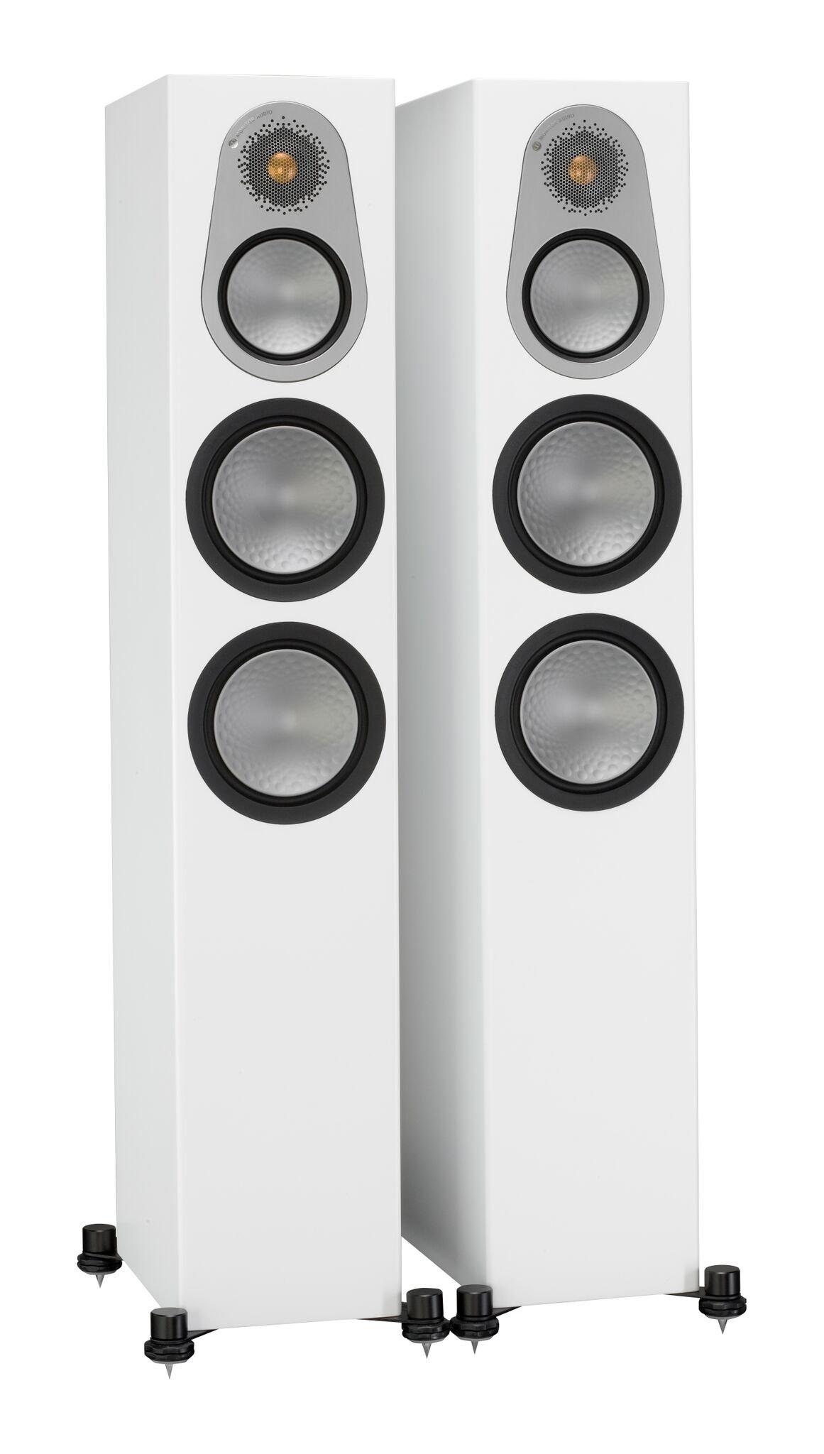 Monitor Audio Silver 300 Floorstanding Speaker Satin White Pair by Monitor Audio