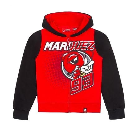 Marc Marquez 93 Moto GP Ant Niños Capucha Rojo Oficial 2018