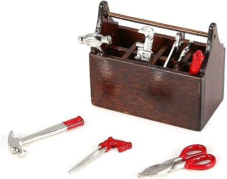 Mini RC Decoración Herramienta de Metal Modelo de Juguete Llave Martillo Destornillador Alicates Set Caja Caja para RC Car Crawler Axial SCX10 (Rojo) (Togames): Amazon.es: Juguetes y juegos