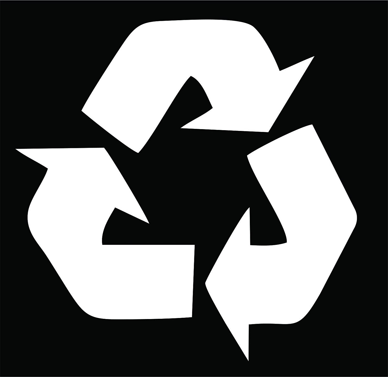 Amazon Recycling Symbol White Vinyl Cut Out Sticker 45