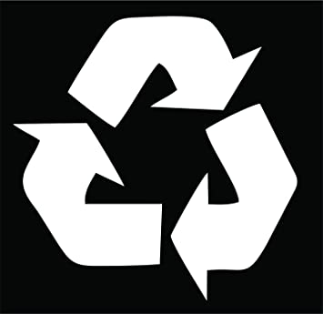 "Hueco de reciclaje símbolo vinilo adhesivo 4,5 "" – Portatil, Ordenador portátil"