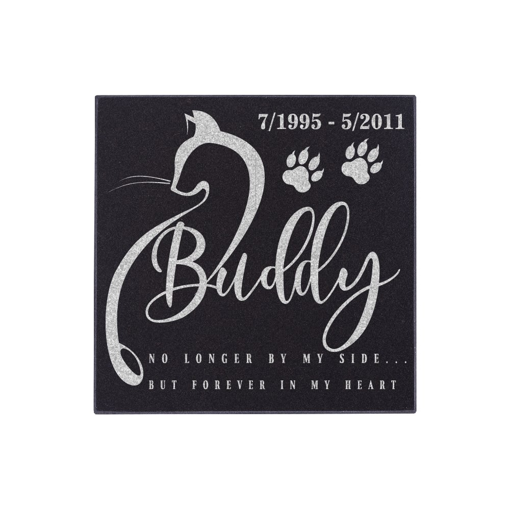 Nineteen85studio Personalized Pet Grave Marker for Cats Free Customization Memorial Headstone DSG#4 United Craft Supplies 1985MEMORIAL4