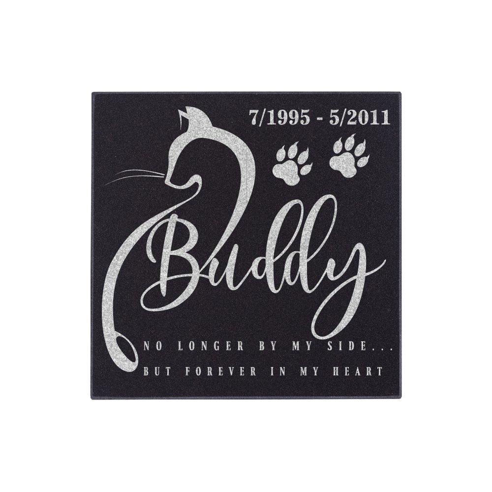 Nineteen85studio Personalized Pet Grave Marker for Cats Free Customization Memorial Headstone DSG#4