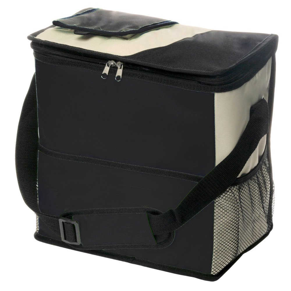 Extra Large Insulated Cooler Bag by Sacko (Black) Soft Sided. Great For Outings, Camping, The Beach, etc.