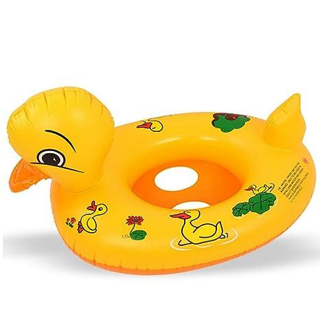 HzDirect Flotador de Natación para bebé, Diseño de Pato Amarillo, Inflable, para Niños