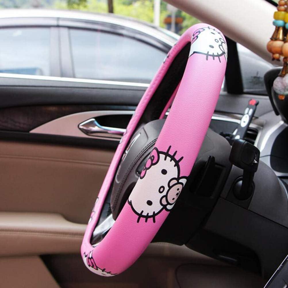 HOOMOLO Hello Kitty Fundas para volante de coche Mujeres Hombres Estuche protector de impresi/ón linda Antideslizante Neopreno apto para la mayor/ía de sed/án Negro SUV