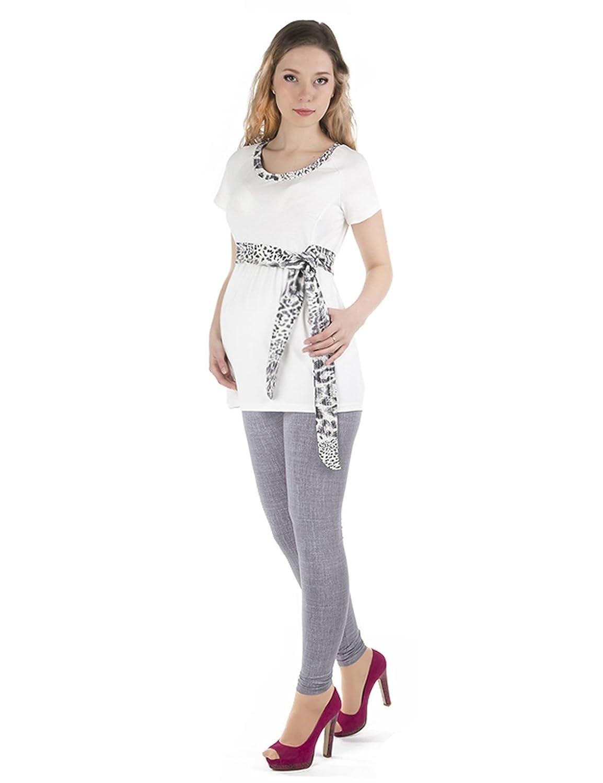 grossesse pantalon pantalon de grossesse motif Leggings longue coton peigné