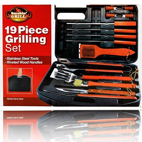 19 Piece Barbeque Set (Fine Life 19-Piece BBQ Set in Carry Case)