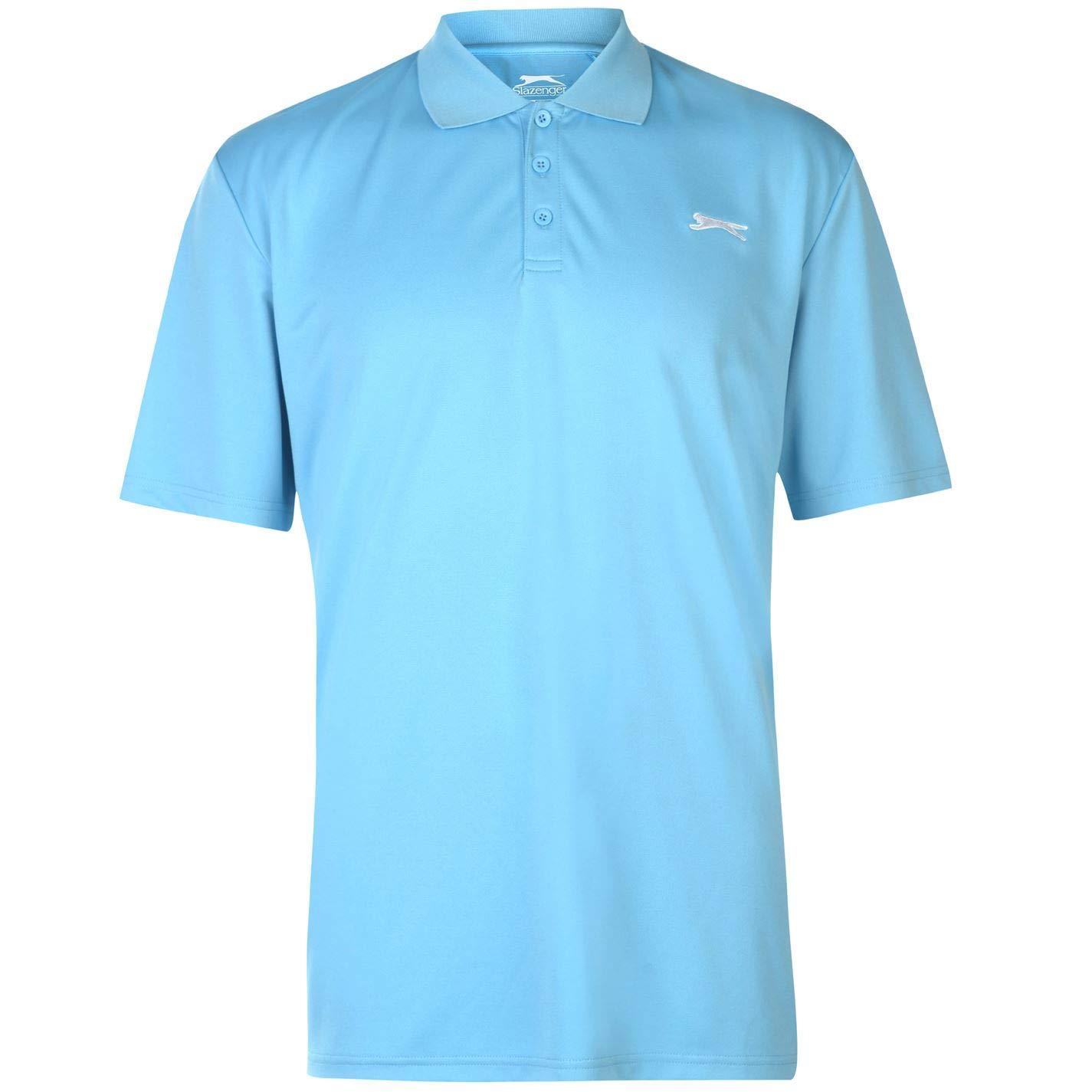 Slazenger - Camiseta de Manga Corta para Hombre Azul Agua L ...