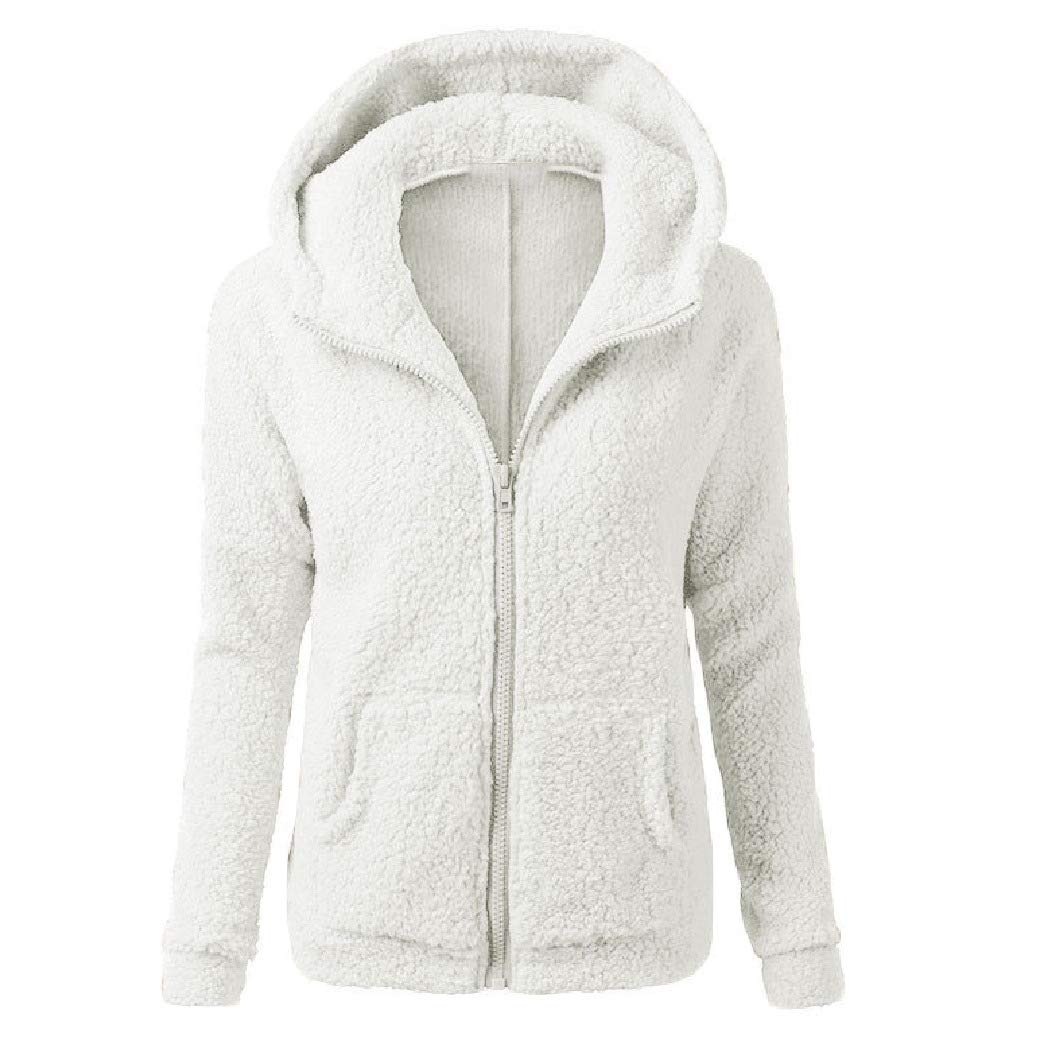 AngelSpace Women Full-Zip Cashmere Sweater Autumn Winter Pure Hood Outwear Sweatshirts