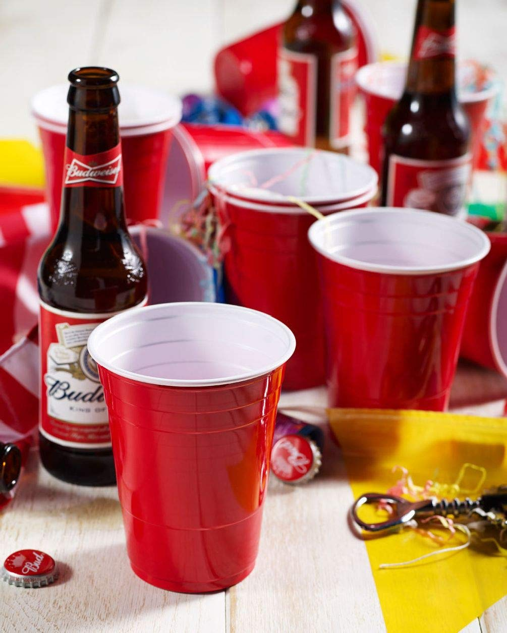 Amercian 16oz Plastic Red Party Cups Glasses Disposable 50//100//500 Beer Pong