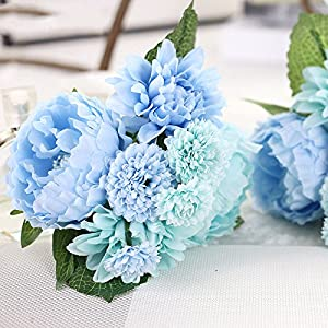 DHD Wedding Bride Hand Bouquet Rosemary Peony Flower Bouquet Vivifying Flower Home Furnishing And Decorative Flower 5