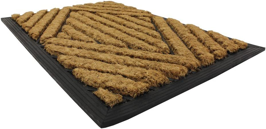 Jvl Tuffscrape Coir Mats Stripes Amazon Co Uk Kitchen Home