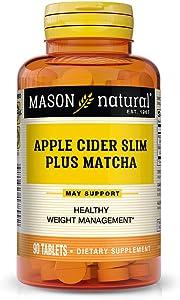 Mason Natural, Apple Cider Slim Plus Matcha Tablets, 90 Count