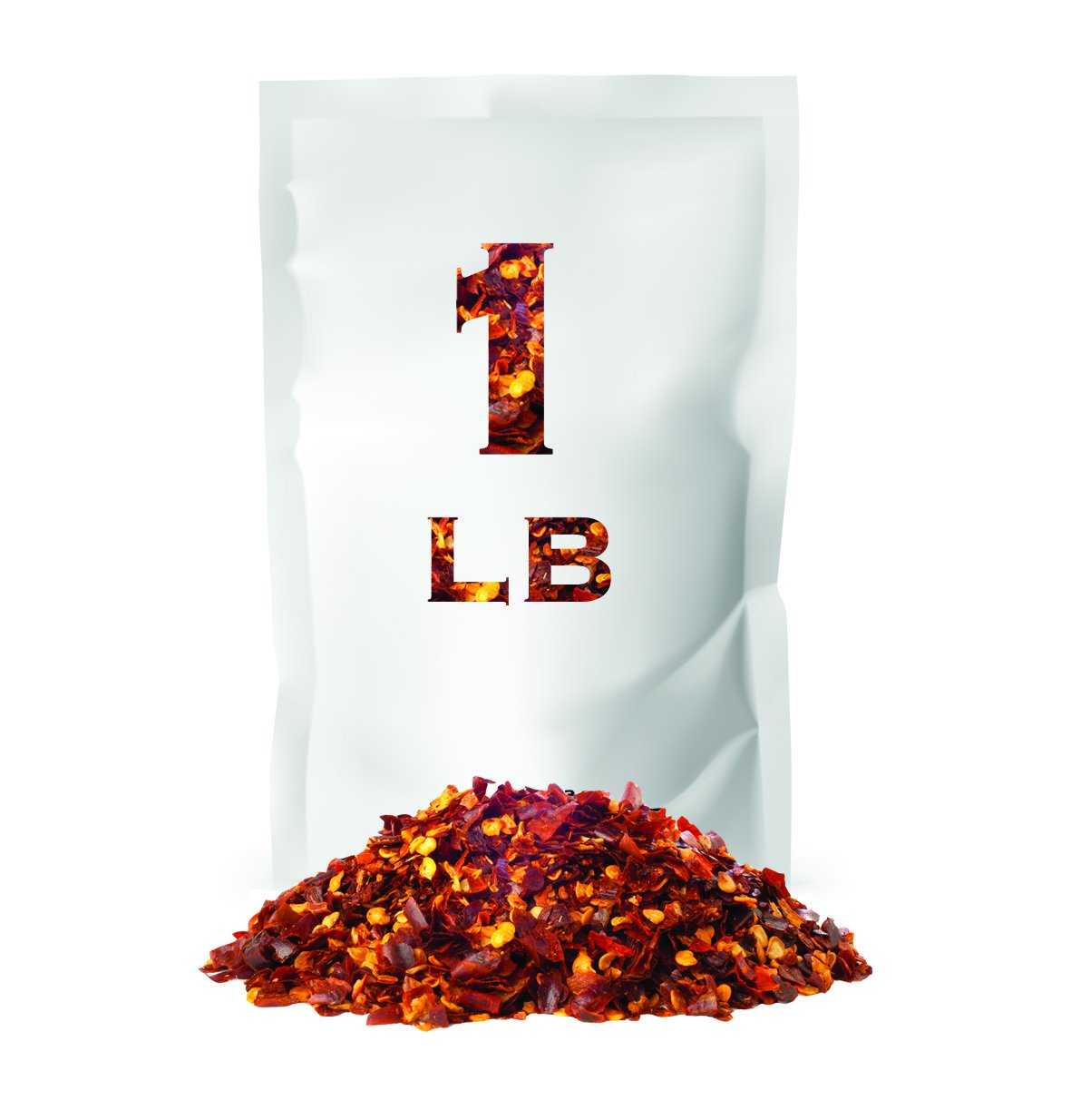 Crushed Red Pepper Flakes | Non GMO Verified | All Natural | Bulk Spice | 1 LB