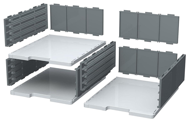 Exacompta Modulodoc - Elemento base de casillas, 110 mm, color gris luz y gris oscuro 360740D
