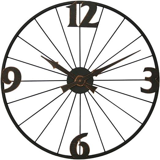 JLRQY Relojes De Pared Arte De Hierro Silencioso Vintage Circular ...