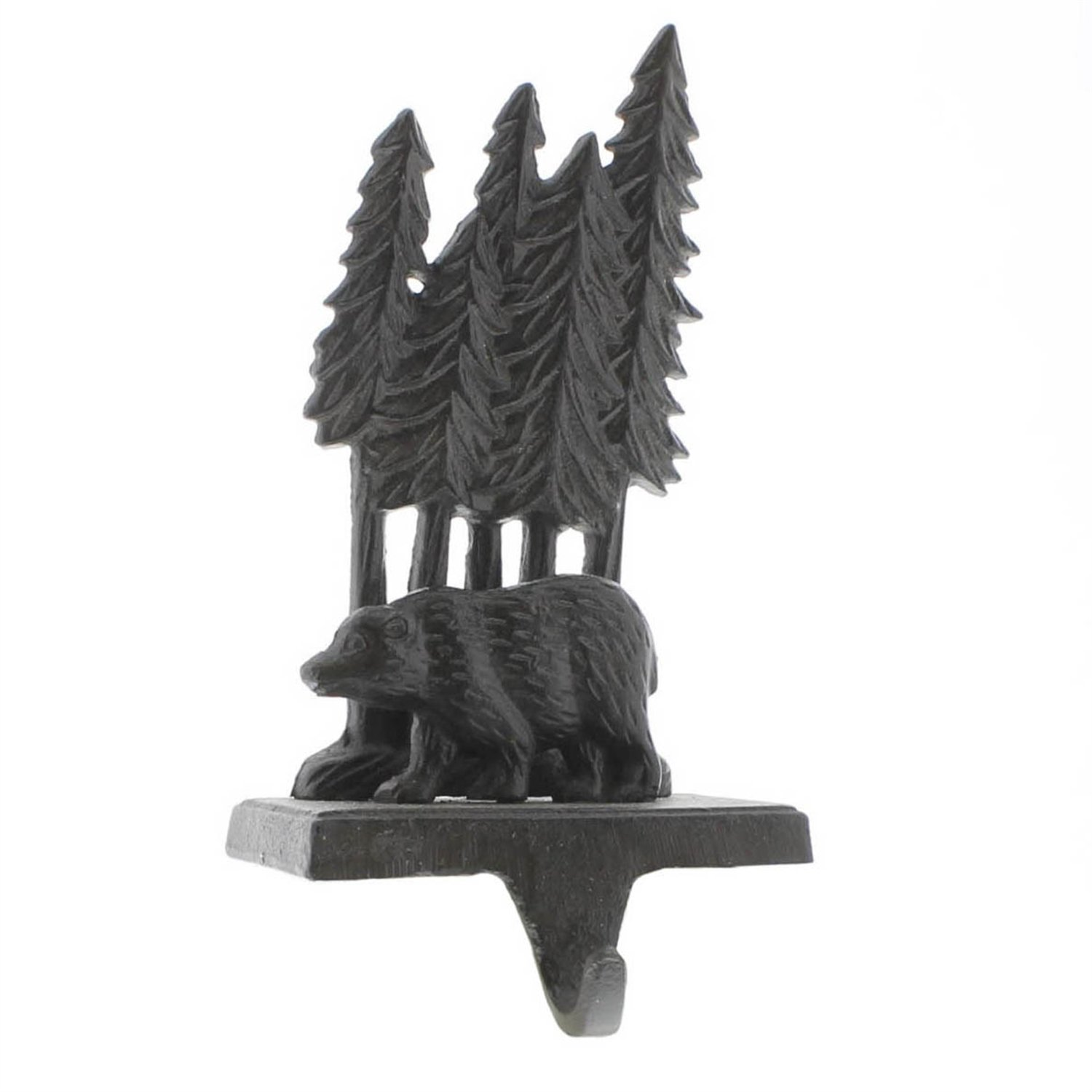 HomArt Woodland Bear Stocking Holder - Cast Iron (Brown) (Set of 3)