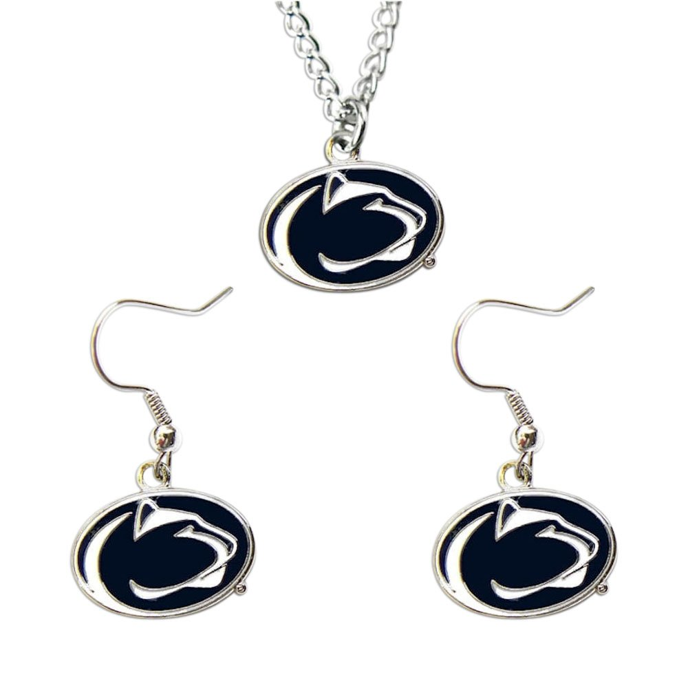 Penn State Nittany Lions Necklace and Dangle Earring Charm Set [Misc.]