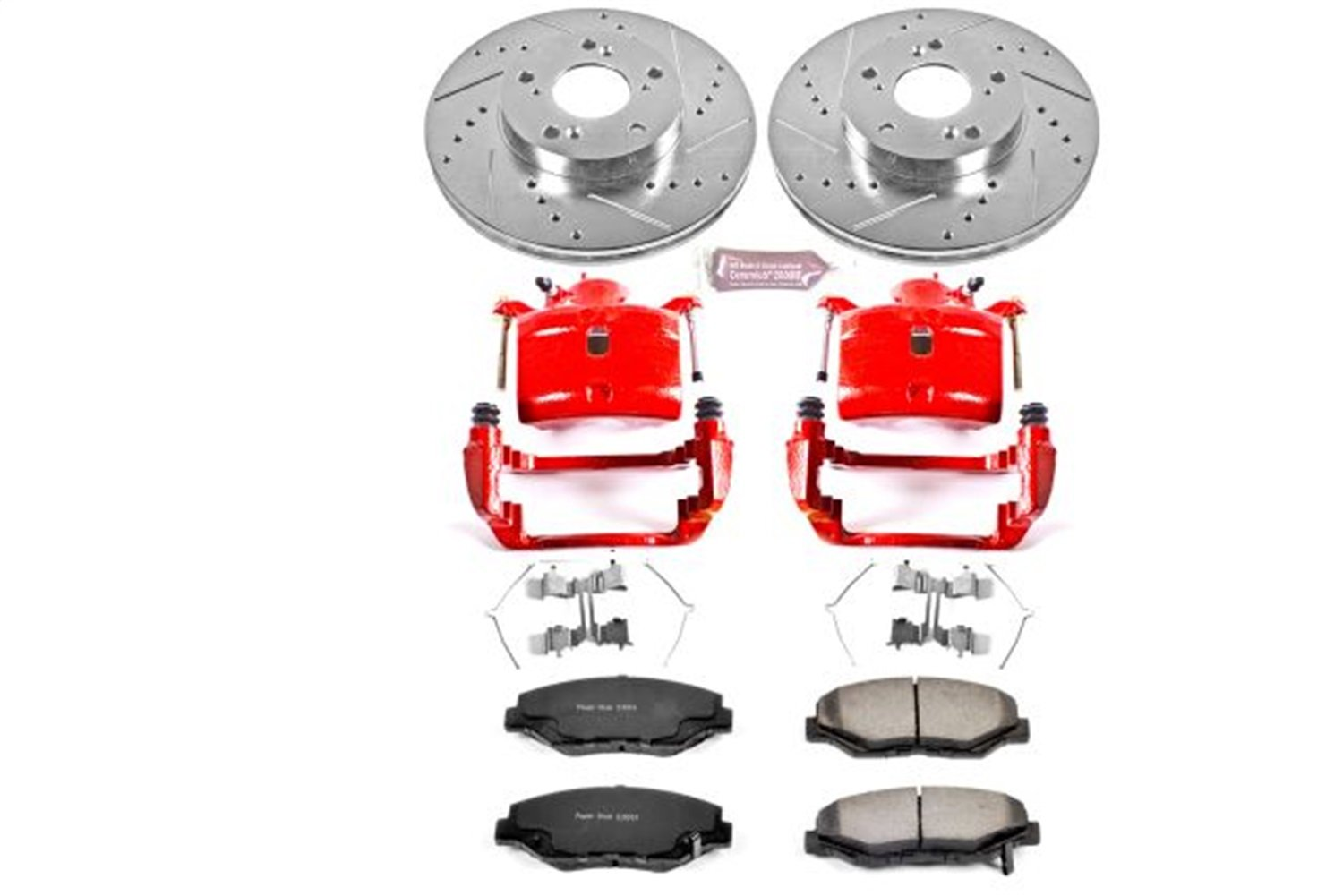 Power Stop KC1043-36 Front Z36 Truck and Tow Brake Kit with Calipers