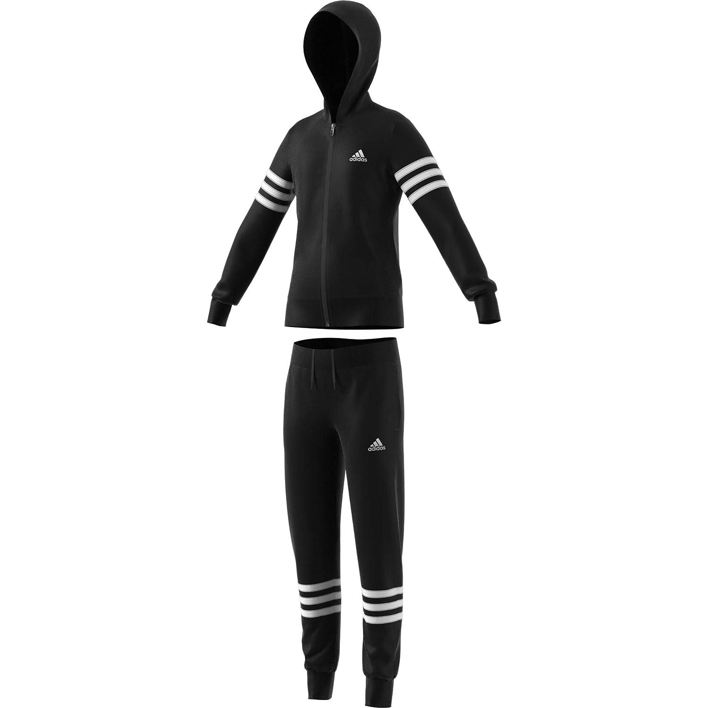Noir Blanc Noir Blanc FR   M  adidas Yg Hood PES TS SurvêteHommest Fille