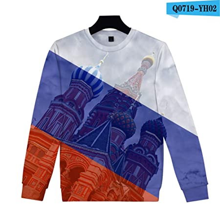 yinghuohuo Suéter 3D México Rusia Brasil Argentina Bandera Suéter ...