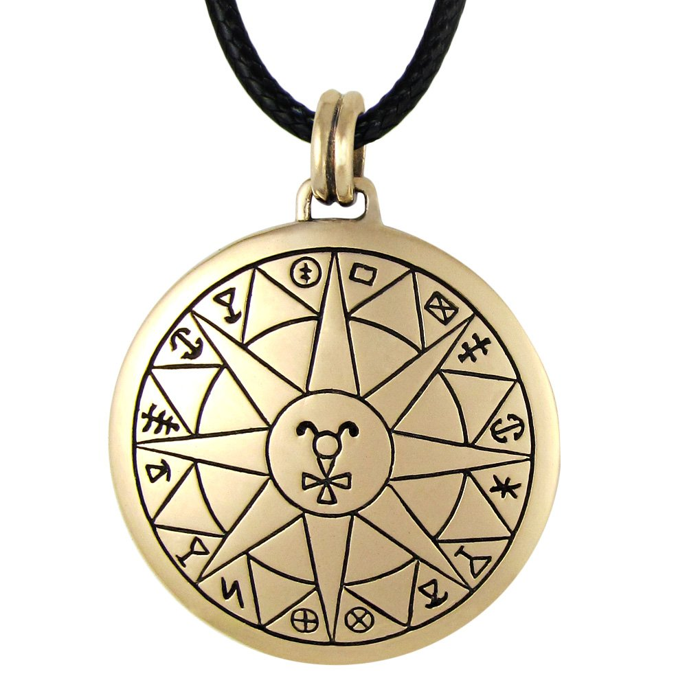 Bronze Talisman for Safe Travel Pendant Necklace