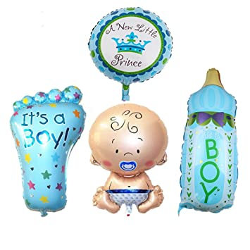 Amazon 4pcs Boy Foil Helium Baby Foil Balloon For Newborn Baby