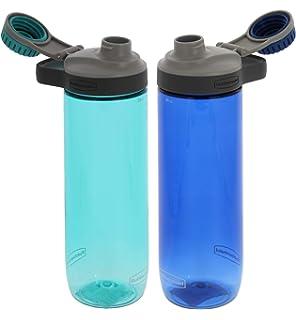 Amazon.com: Animado. Azul marino Floral con piña botella de ...