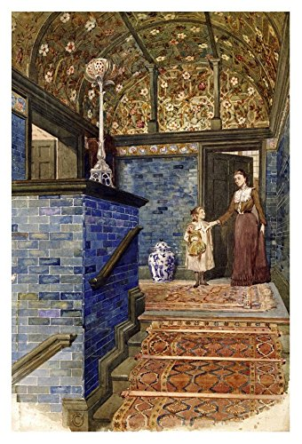 Global Gallery Art on a Budget T. Hamilton Crawford Staircase Hall with William De Morgan Tiles Unframed Giclee on Paper Print, 36