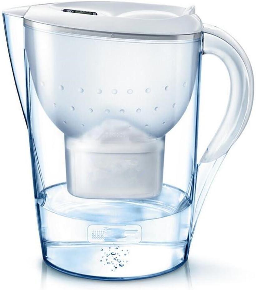 Clarion filtro de agua jarro 3.5L purificador de agua azul botella de agua, white: Amazon.es