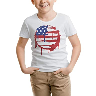 Amazoncom Whitecorn Toddler Boys American Flag Us Map Outline - American-flag-us-map