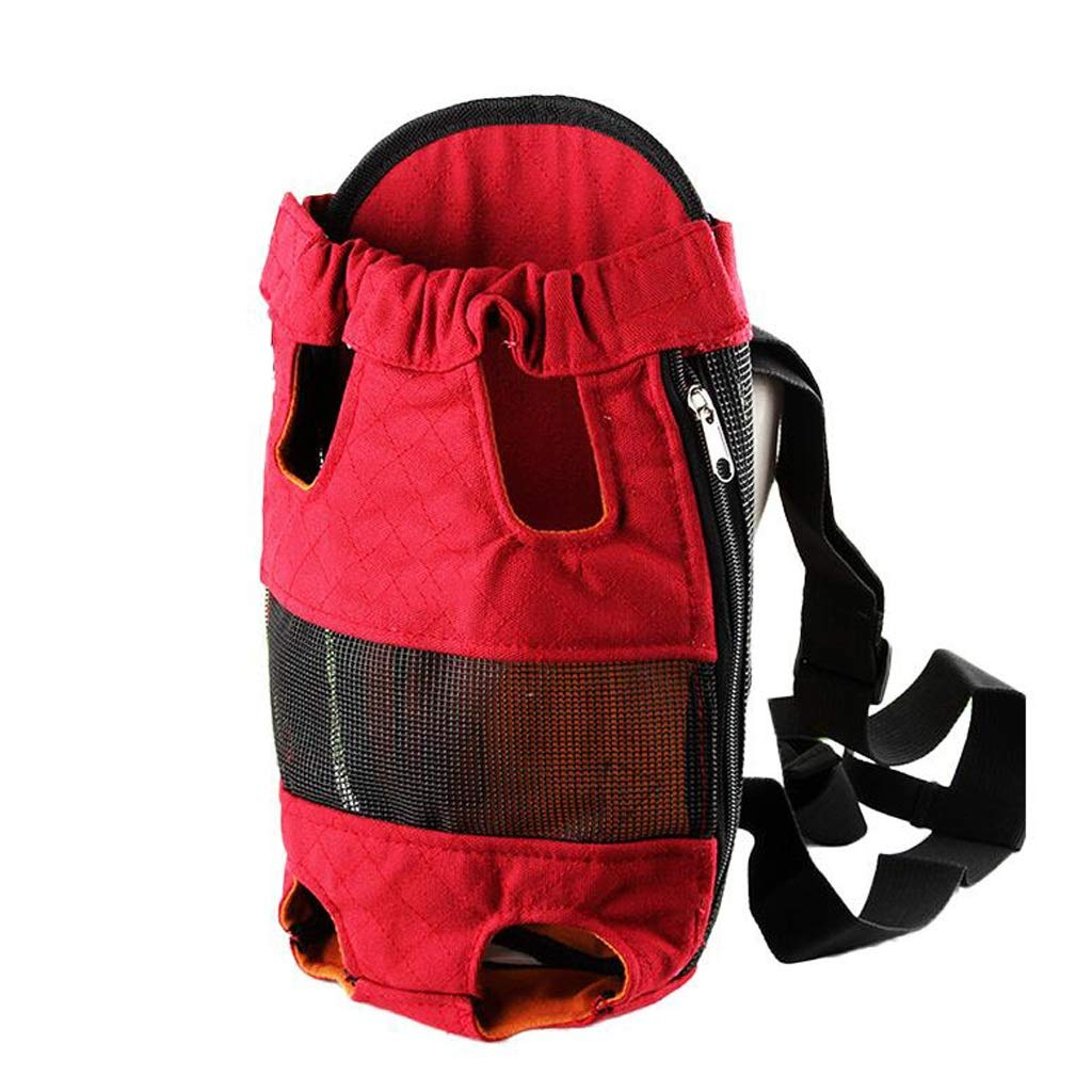 S FJH Dog Backpack Dog Bag Out Shoulders Teddy Pet Bag Dog Chest Bag Portable Pet Out Small Dog (Size   S)