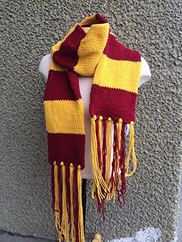 Handmade Hogwarts Gryffindor Scarf