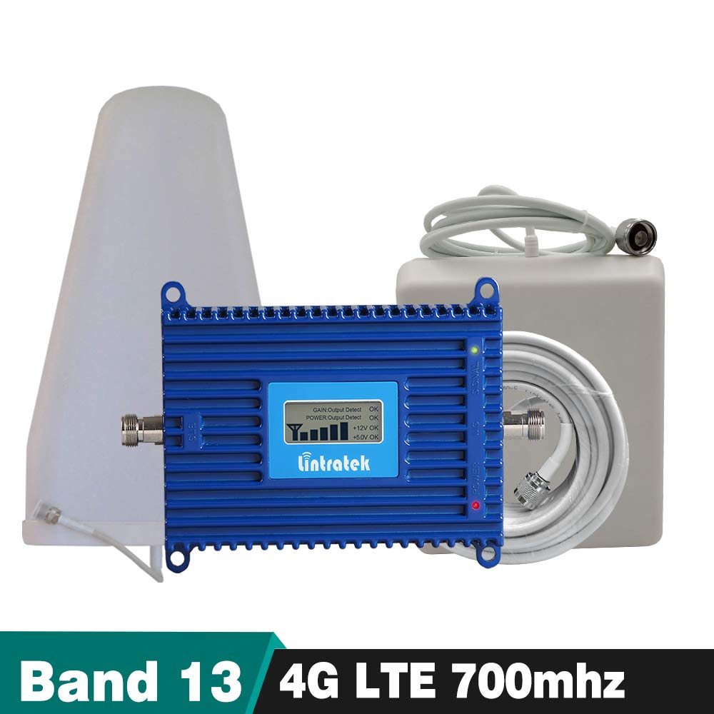 4G FDD LTE 700 MHz Signal Booster (LTE Band 13) 4G LTE 700 Mobile Cellular Signal Repeater Amplifier Full Set with Antenna 15M Cable Ezycam