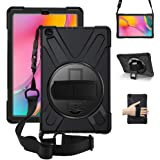 ZenRich Galaxy Tab A 10.1 Case 2019 T510 T515, zenrich Shockproof Heavy Duty Rugged Case with 360 Rotating Kickstand Hand Str
