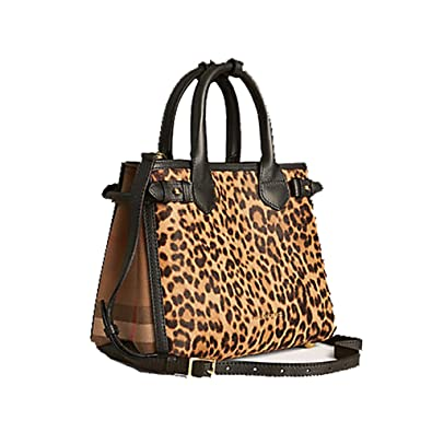cd8a9b3eb7ae Tote Bag Handbag Authentic Burberry The Small Banner in Animal Print  Calfskin Item 39906891 Made in