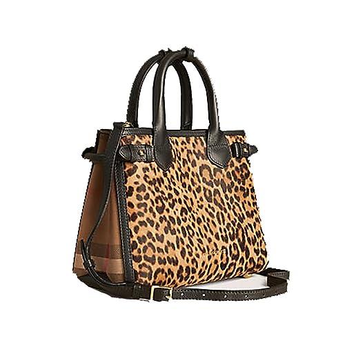 9ec8e1630ea17 Tote Bag Handbag Authentic Burberry The Small Banner in Animal Print ...