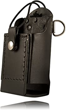 "Boston Leather 5481RC-1-E Black 6/"" Firefighter/'s Radio Holder D-Rings /& Strap"