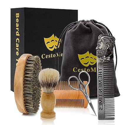 Beard Brush, Beard Comb,Men's Beard Set Beard Care Set Beard