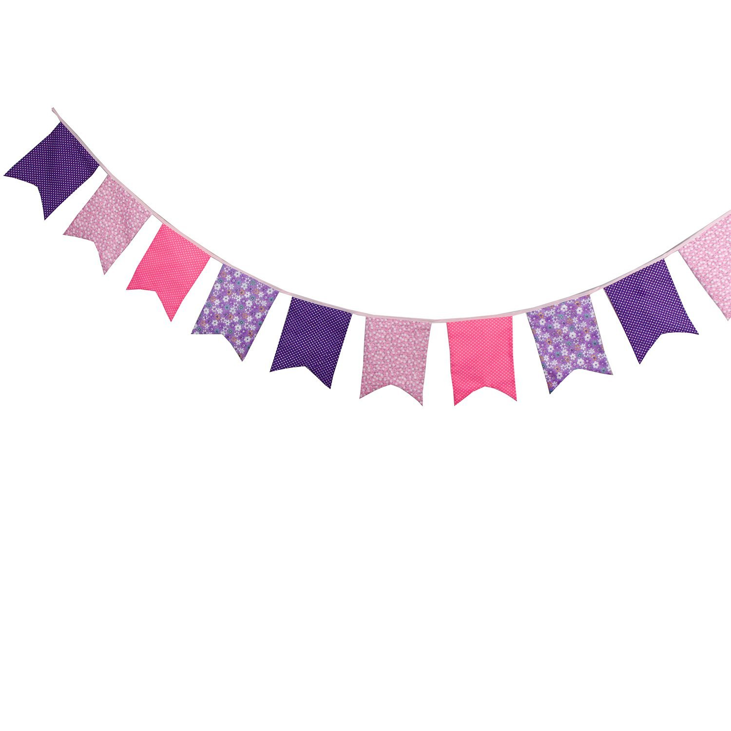 Blue INFEI 3.5M//11.5Ft Floral Vintage Fabric Big Fishtail Flags Bunting Banner Garlands for Wedding Outdoor /& Home Decoration Birthday Party