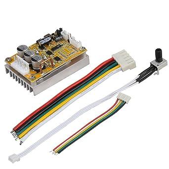 Placa de controlador de motor BLDC trif/ásica sin sensor 5-36 V BLDC sin sensor sin escobillas sin controlador de motor Hall