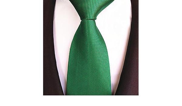 FYios - Corbata para Hombre de Color Verde Oscuro y Puro para ...