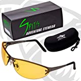 Expo V Yellow Photochromic Safety Glasses Gun Metal Frame