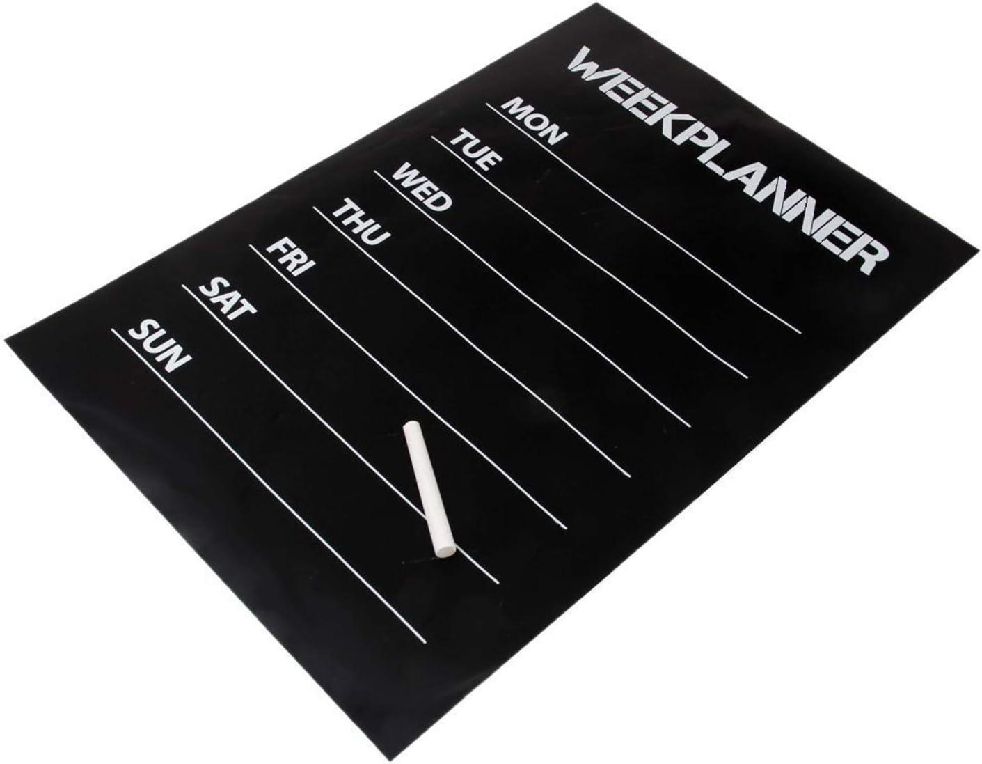 Lavagna pellicola settimane planning adesivo da parete Autoadesivo 35 x 55 cm Colore Nero cretacico pennarelli per scrivere